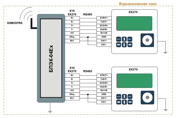 Схема подключения корректоров