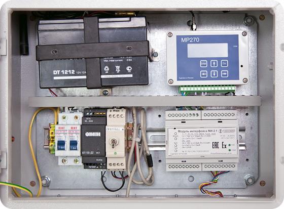 БПЭК-02/МТ – источник питания совстроенным GSM модемом дляпередачи данных сэлектронных корректоров ЕК270 иЕК260